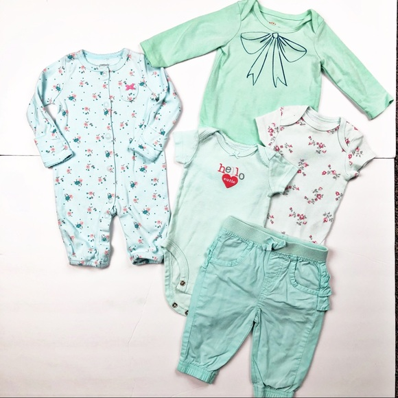 Little Me Other - Bundle of 3 Months Baby Girl clothes Cat & Jack